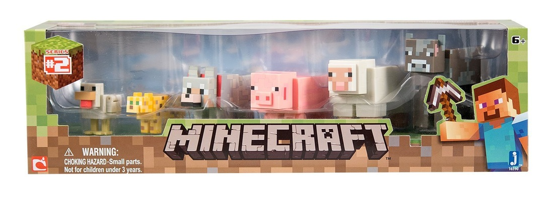 minecraft action figure six pack animal set series number 2