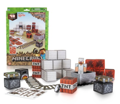 Huge 48 piece Minecraft Action Pack papercraft